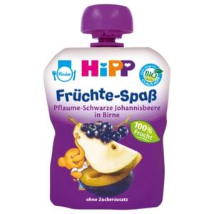 Hipp Früchte-Spaß Pflaume Schwarze Johannisbeere in Birne 90g