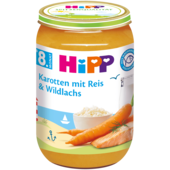 Hipp Karotten mit Reis & Wildlachs 220g