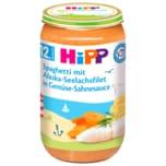 Hipp Bio Spaghetti mit Alaska-Seelachsfilet in Gemüse-Sahnesauce 250g