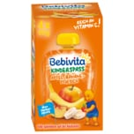 Bebivita Kinder-Spaß Apfel-Banane-Pfirsich 4x90ml