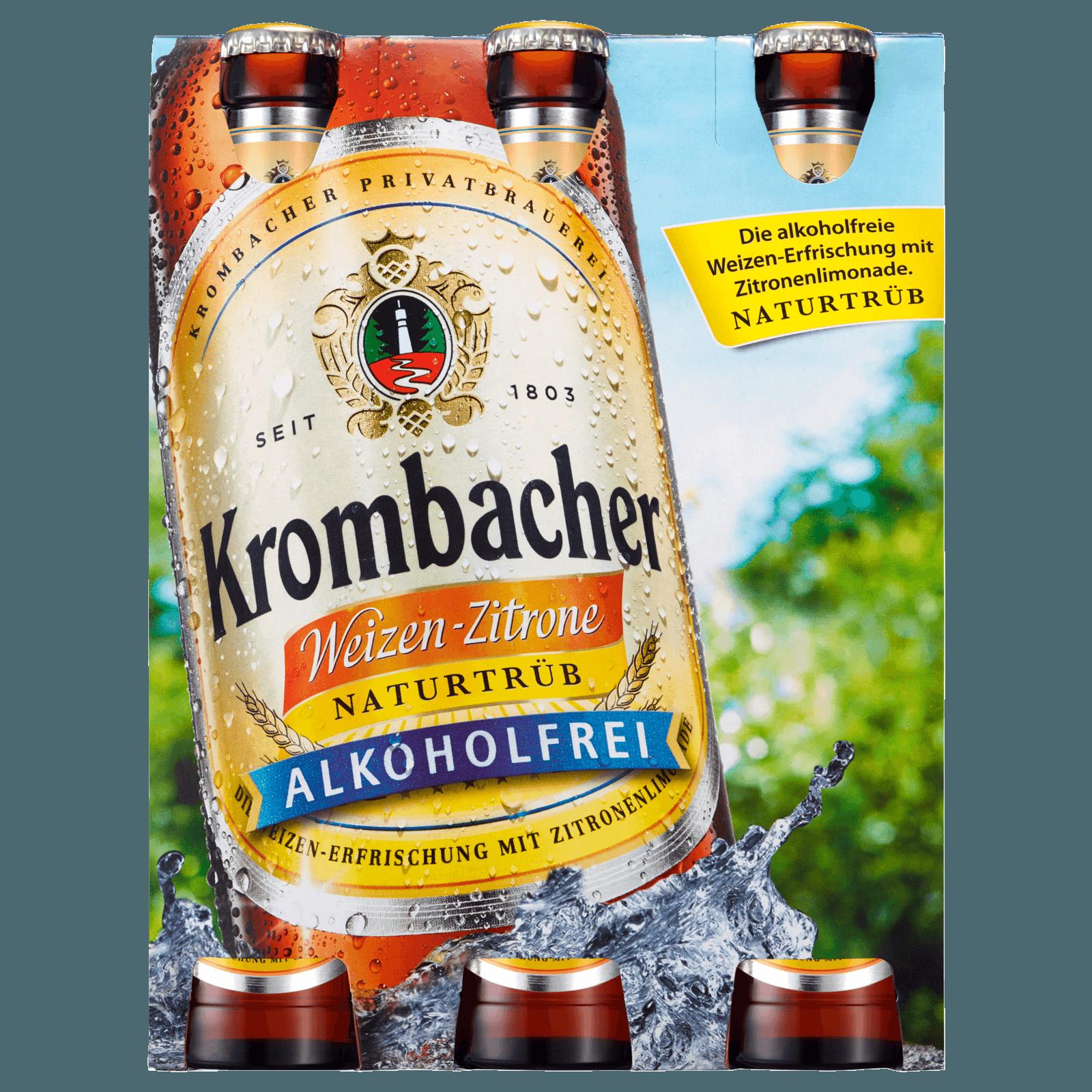 Krombacher Weizen Zitrone 6x0,33l bei REWE online bestellen!