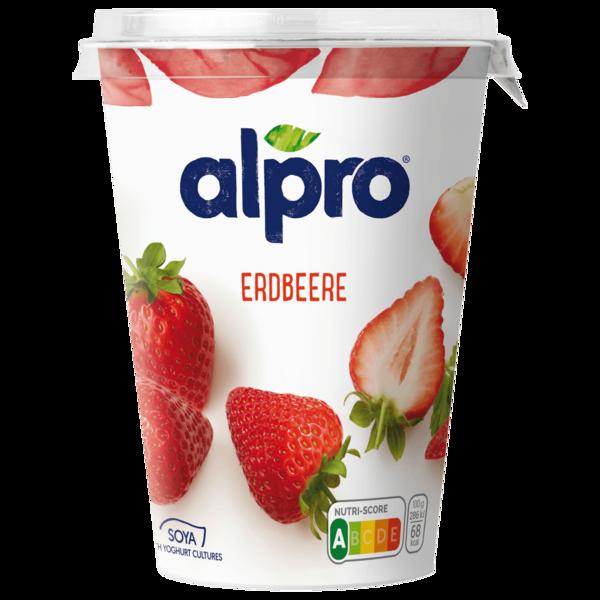 Alpro Soja-Joghurtalternative Erdbeere vegan 500g