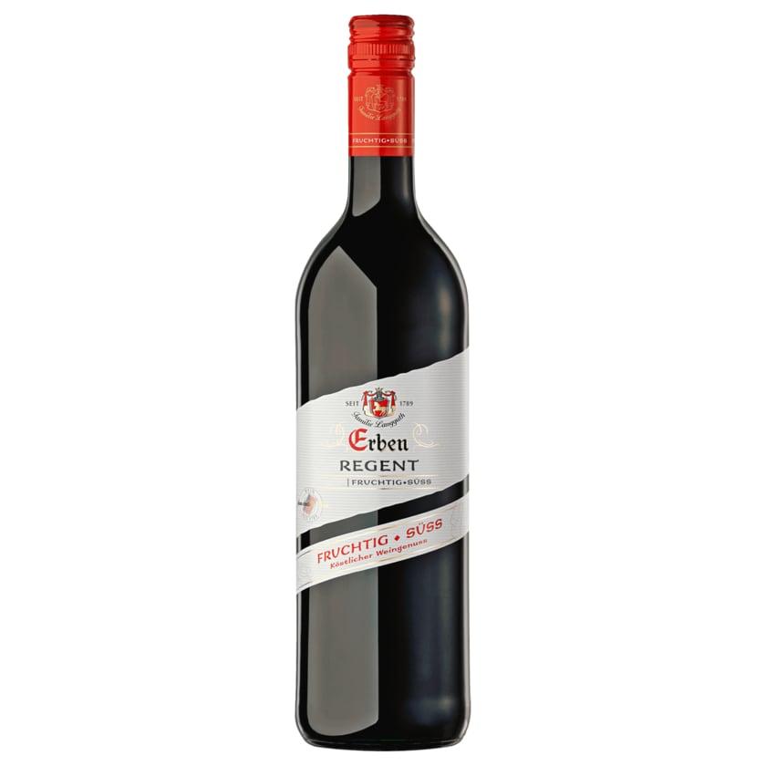 Erben Rotwein Regent fruchtig - süss 0,75l