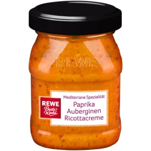 REWE Beste Wahl Paprika-Auberginen-Ricottacreme 90g