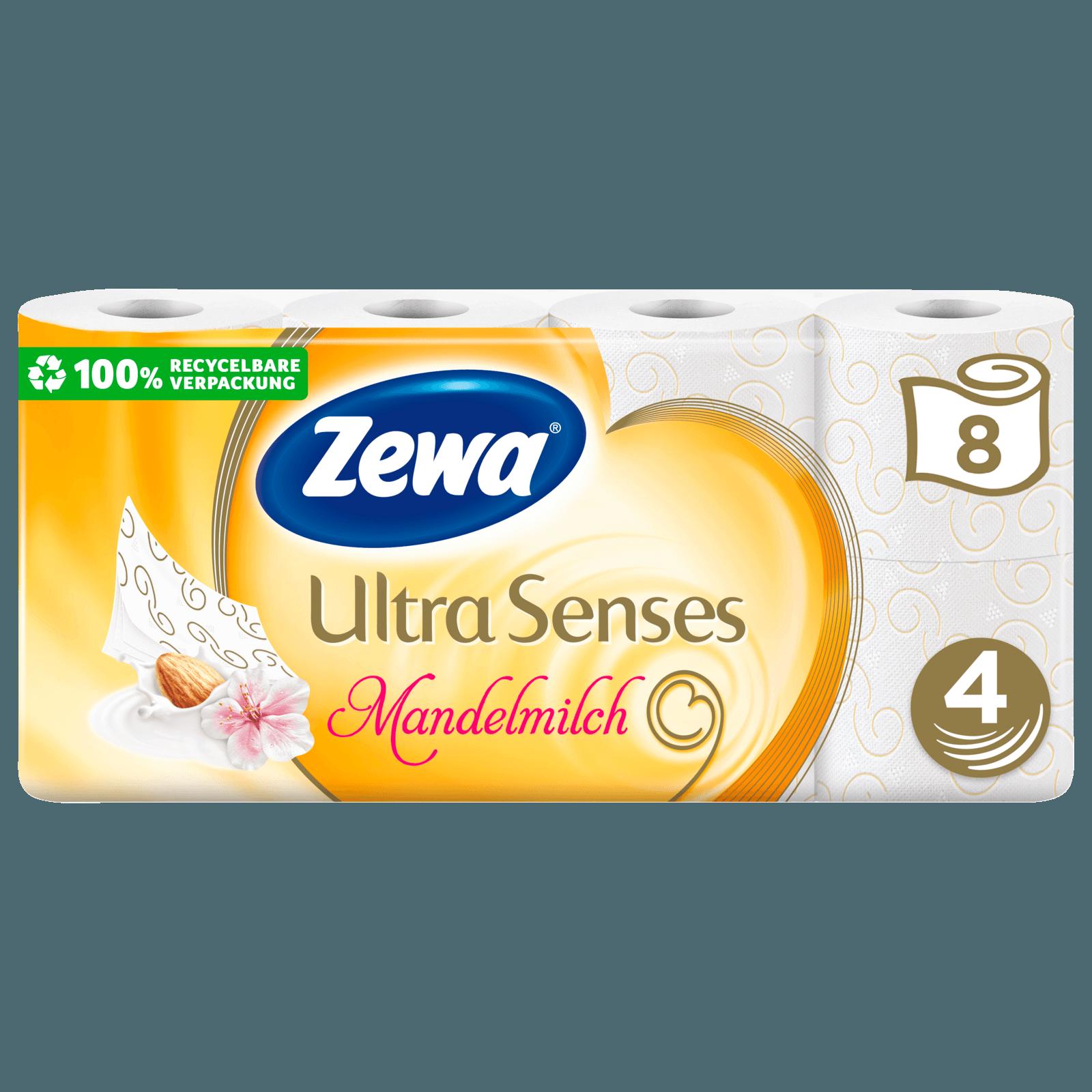 Zewa Ultra Senses Toilettenpapier mit Mandelduft, 8x135 Blatt