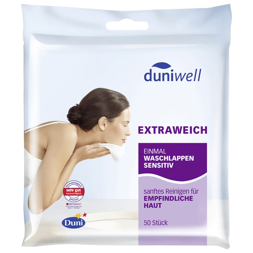 Duniwell Einmal-Waschlappen sensitiv 20x20cm 50 Stück