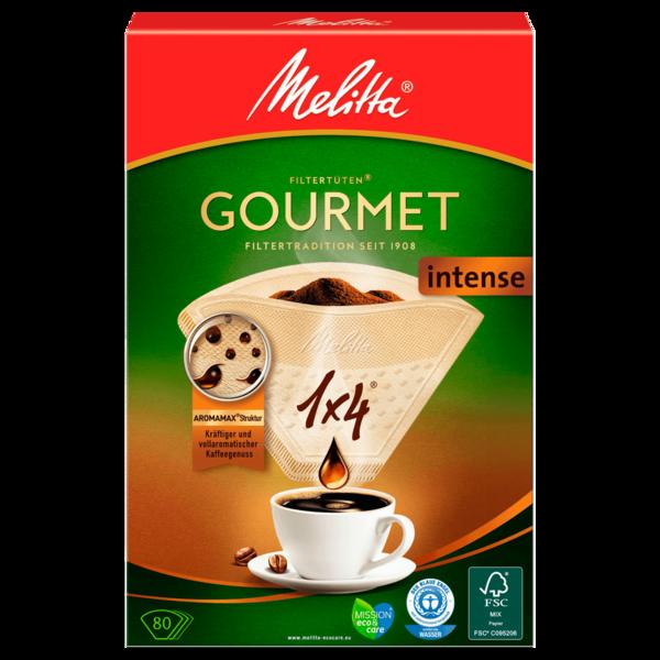Melitta Filtertüten 1x4 Gourmet Intense 80 Stück