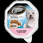 Cesar Hundefutter Vital 10+ mit Kalb & Reis 150g