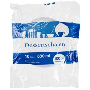 Dessertschalen klar 10 Stück 380ml