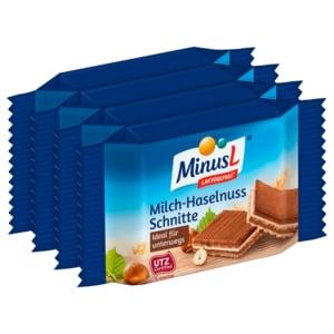 MinusL Milch-Haselnuss-Schnitte 4x25g