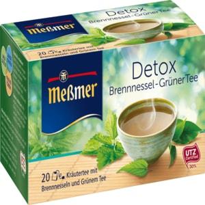 Meßmer Detox Brennnessel-Grüner Tee 40g, 20 Beutel