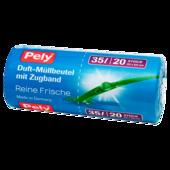 Pely Duft-Müllbeutel mit Zugband Rein Frische 35l, 20 Stück