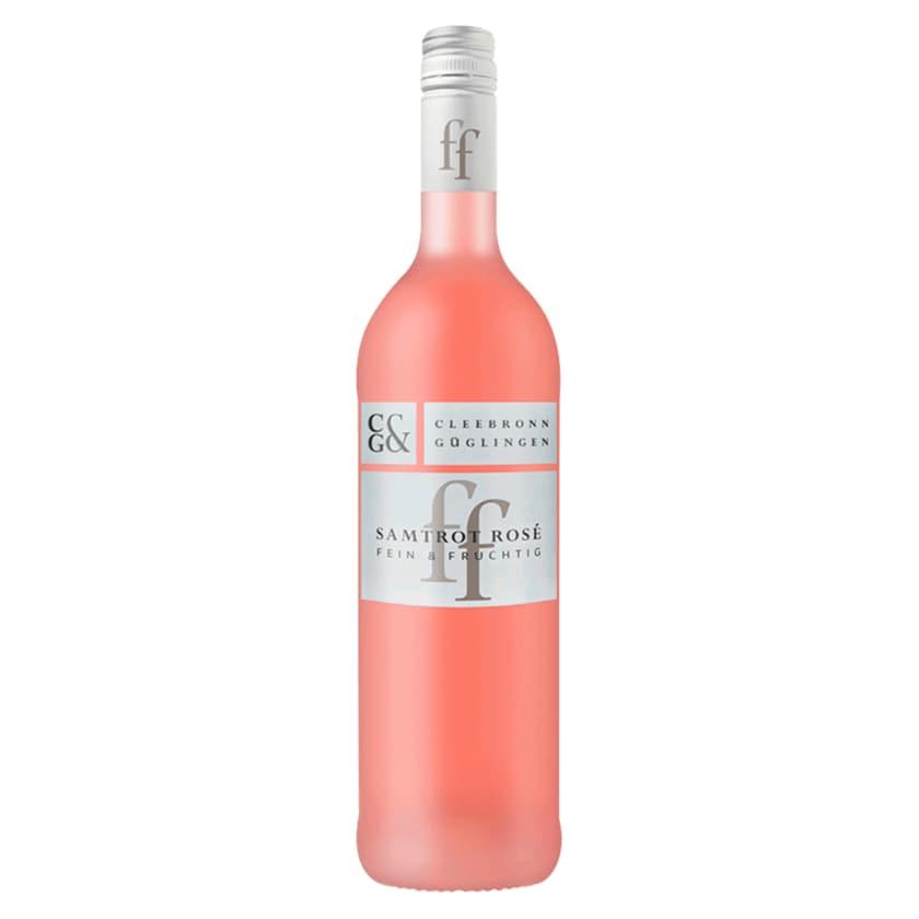 Cleebronn Güglingen Rosé Samtrot Qualitätswein halbtrocken 0,75l
