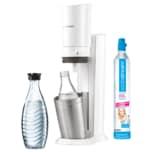 Sodastream Wassersprudler Crystal 2.0 mit 1 Glaskaraffe weiß