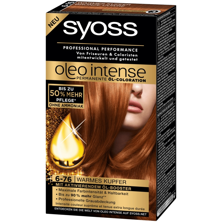 Syoss Öl-Coloration Oleo Intense 6-76 Warmes Kupfer 115ml