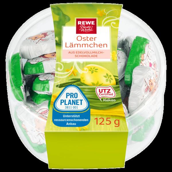 REWE Beste Wahl Oster Lämmchen aus Edelvollmilch-Schokolade 125g