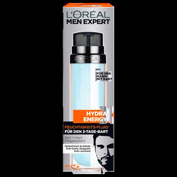 L'Oréal Paris Men Expert Hydra Energy Feuchtigkeits-Fluid für den 3-Tage-Bart 50ml