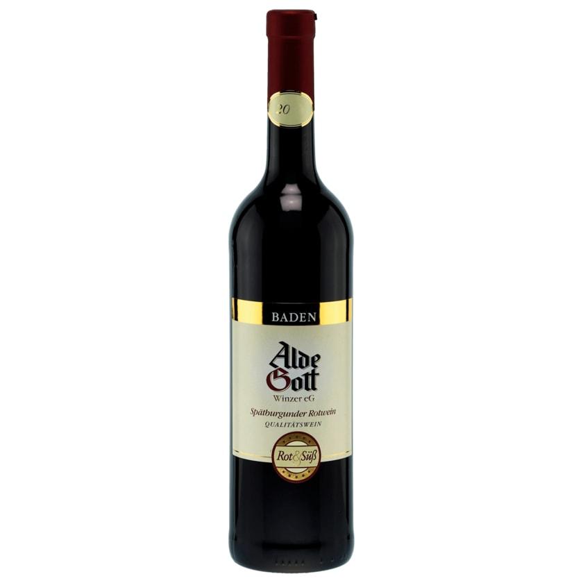 Alde Gott Spätburgunder Rotwein QbA 0,75l