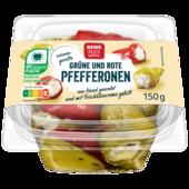 REWE Beste Wahl Pfefferonen gefüllt mit Frischkäse 150g