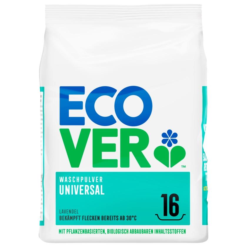 Ecover Universalwaschpulver Konzentrat Lavendel 1,2kg, 16WL