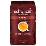 Schwiizer Schüümli Crema ganze Bohne 1kg
