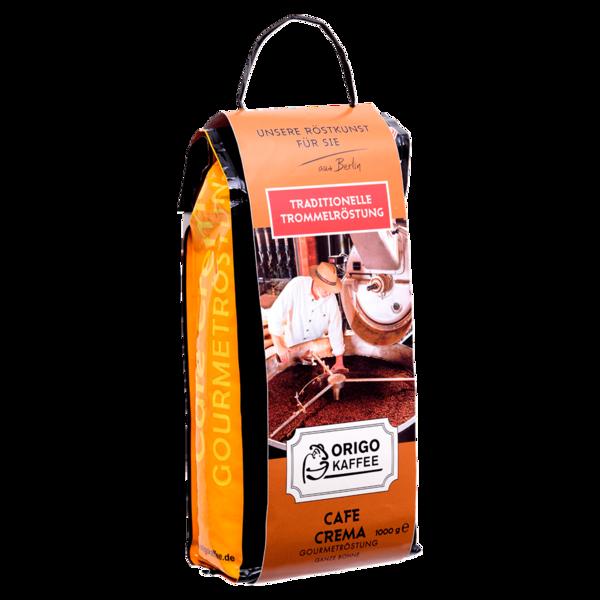 Origo Kaffee Cafe Crema Gourmetröstung ganze Bohne 1kg