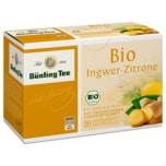 Bünting Tee Bio Ingwer-Zitrone 40g, 20 Beutel