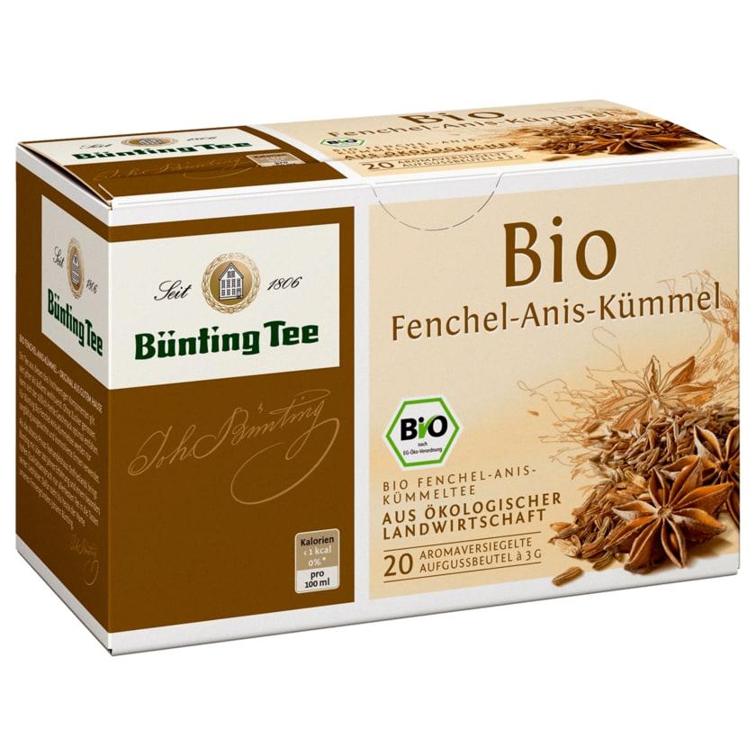 Bünting Tee Bio-Fenchel-Anis-Kümmel 60g, 20 Beutel