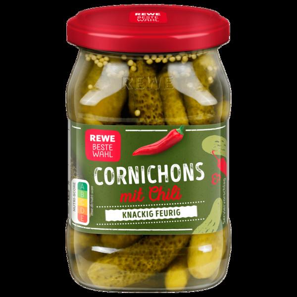 REWE Beste Wahl Cornichons mit Chili 370ml