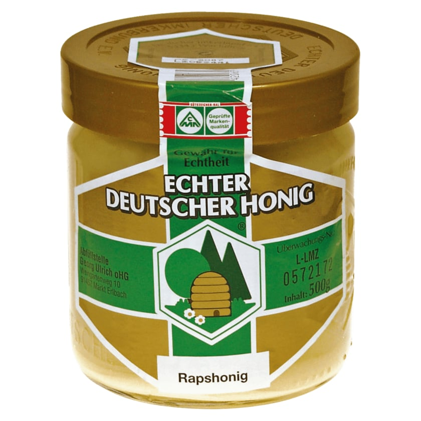 Echter Deutscher Honig Rapshonig 500g