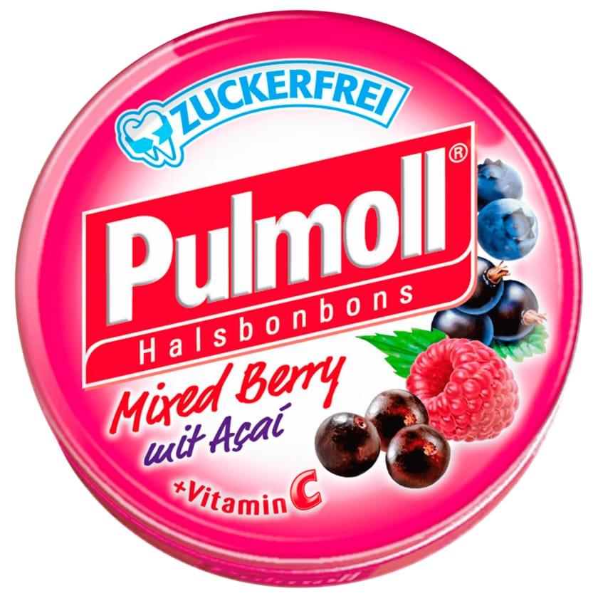 Pulmoll Halsbonbons Mixed Berry mit Açai zuckerfrei 50g