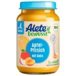 Alete Bio Apfel-Pfirsich mit Keks nach 4. Monat 190g