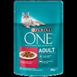 Purina One Katzenfutter Adult mit Rind & Karotte 85g