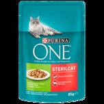 Purina One Katzenfutter Sterilcat mit Truthahn & grünen Bohnen 85g