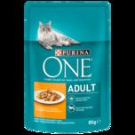 Purina One Katzenfutter Adult mit Huhn & grünen Bohnen 85g
