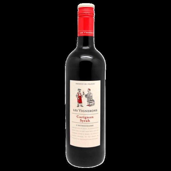 Les Vignerons Rotwein Carignan Syrah L'Enthousiasme trocken 0,75l