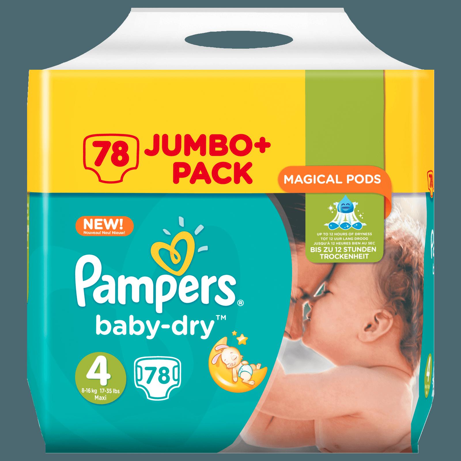 Pampers Baby Dry Gr. 4 Maxi 7-18kg Jumbo Plus Pack 78 Stück