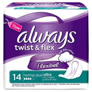 Always Twist & Flex Damenbinden Normal Plus 14 Stück