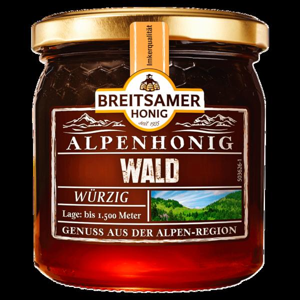 Breitsamer Honig Alpenhonig Wald 500g