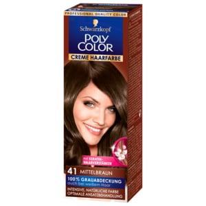 Schwarzkopf Poly Color Creme-Haarfarbe 41 Mittelbraun 73ml