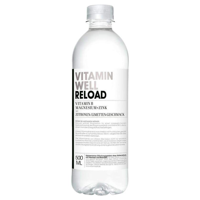 Vitamin Well Reload Zitrone & Limette 0,5l