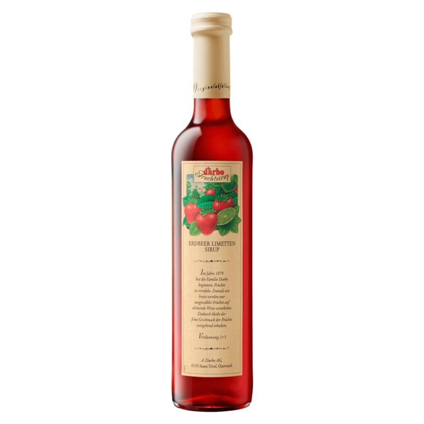 D'arbo Erdbeer-Limette-Sirup 0,5l