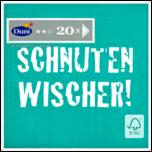Duni Servietten 3-lagig Schnutenwischer grün 20 Stück