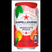 Sanpellegrino Blutorangen Limonade Aranciata Rossa Hoher Fruchtanteil 20% frisch gepresster Zitrusfrüchten Leicht herbe Geschmacksnote 0,33l