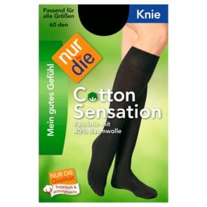 Nur die Knie Cotton Sensation 60 schwarz one size