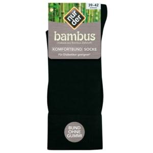 Nur der Herren Bambus Komfort-Socke schwarz 39-42