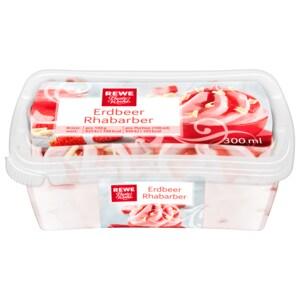 REWE Beste Wahl Erdbeer-Rhabarber-Eis 300ml