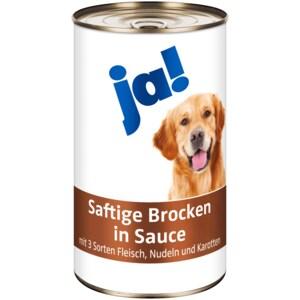 ja! Hundefutter Saftige Brocken in Sauce 1,240kg