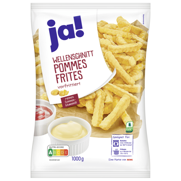 ja! Pommes Frites Wellenschnitt 1kg