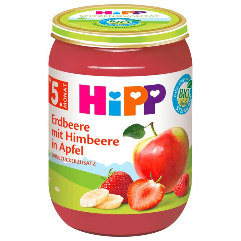 Hipp Bio Erdbeere mit Himbeere in Apfel 190g